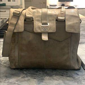Rian leather cross body bag in tan